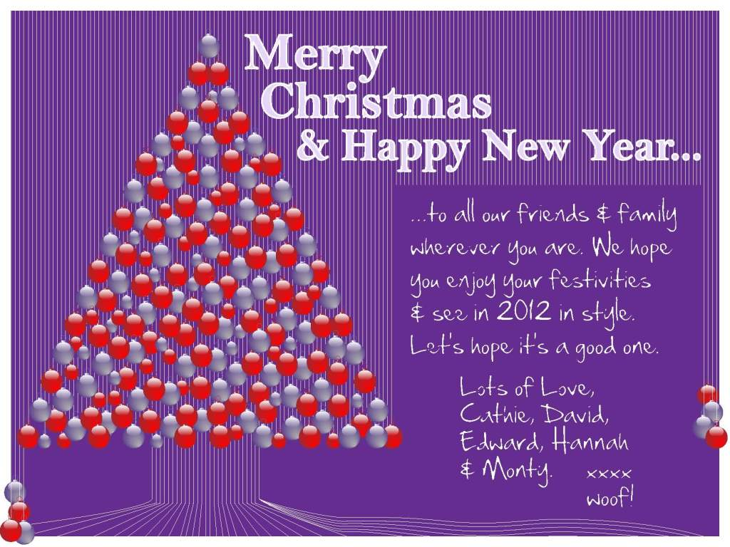 Merry Christmas 2011 & Happy New Year 2012