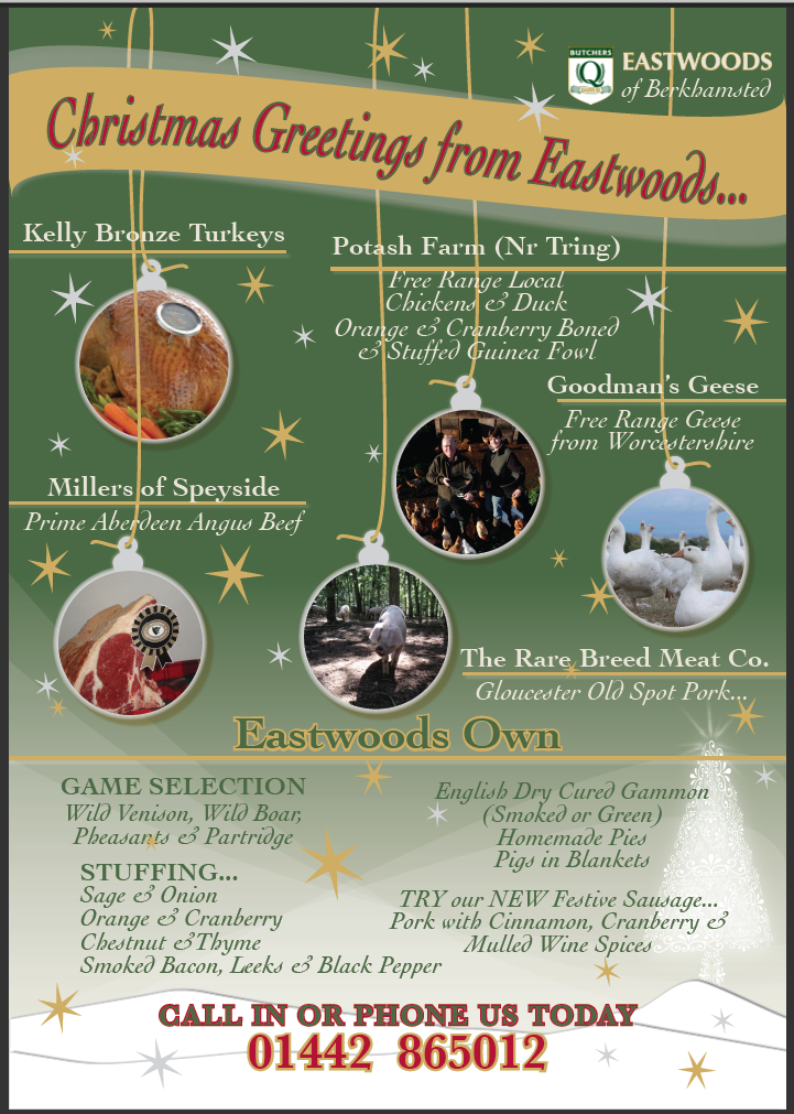 Eastwoods Xmas Poster 2011