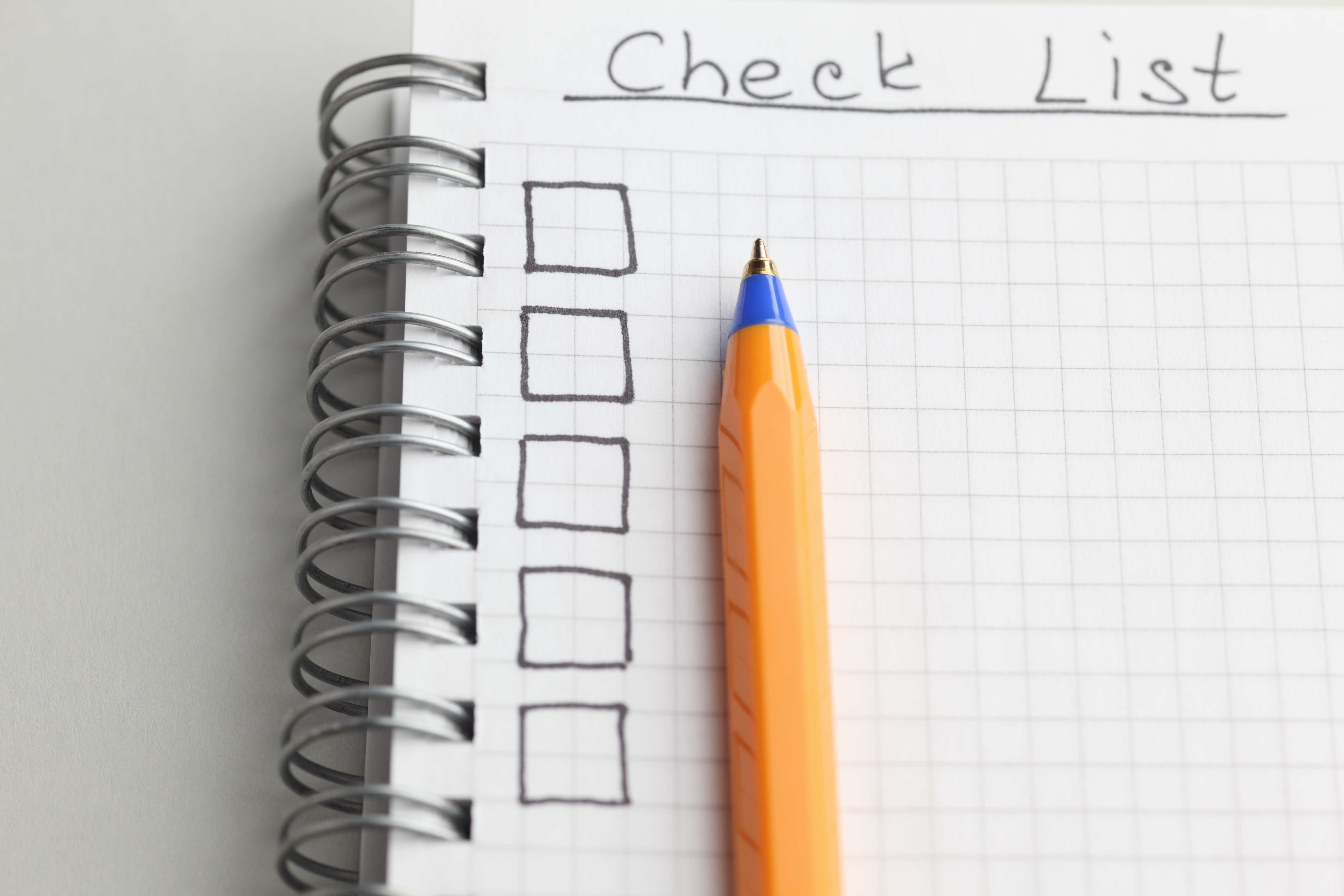 Write a checklist